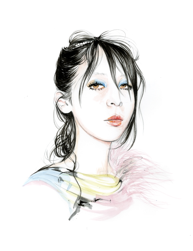 13-Caroline-Andrieu-Fashion-Shows-Distilled-into-Drawing-Portraits-www-designstack-co