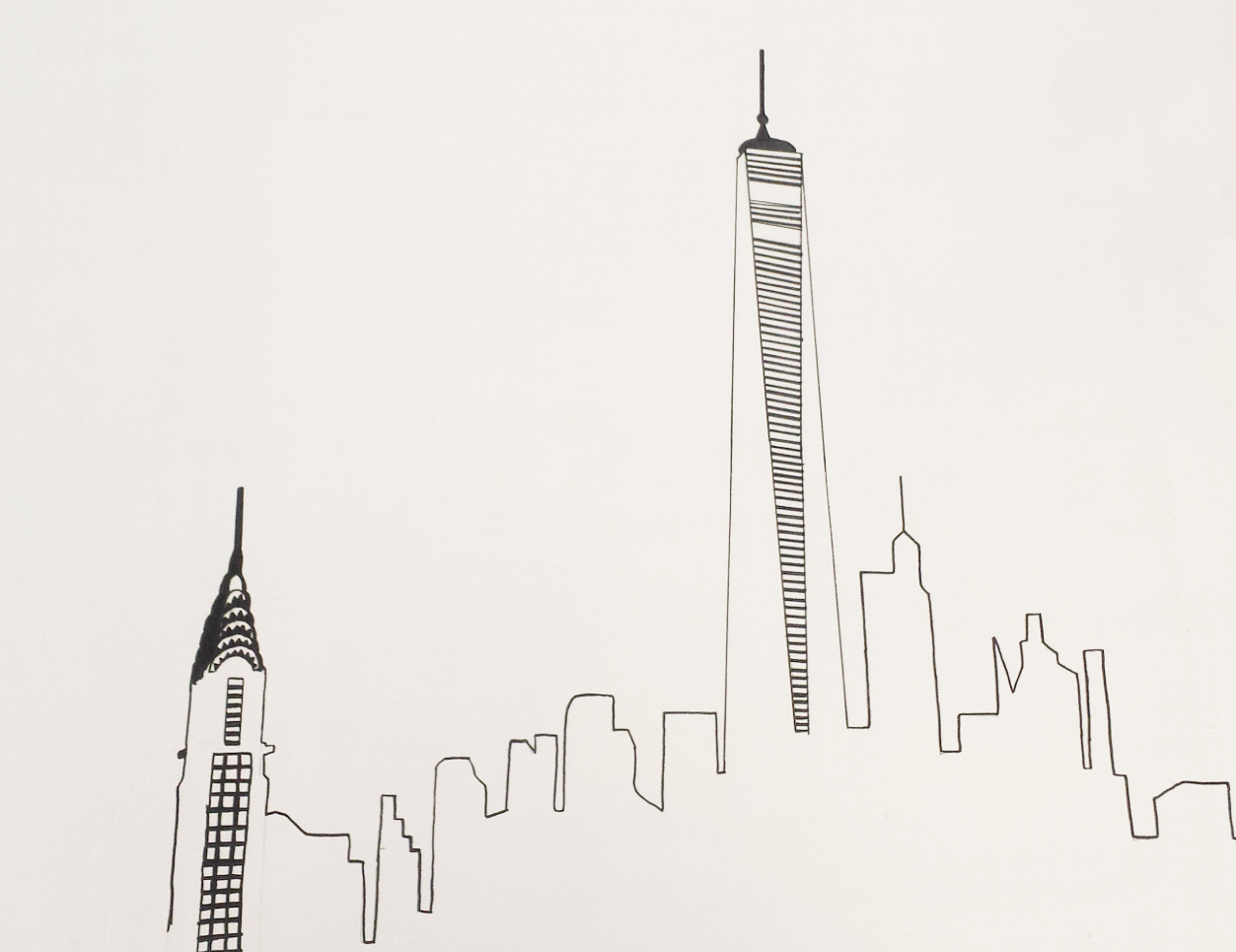 Vikalpah How To Draw Skyline Silhouette Ny Gallery Wall