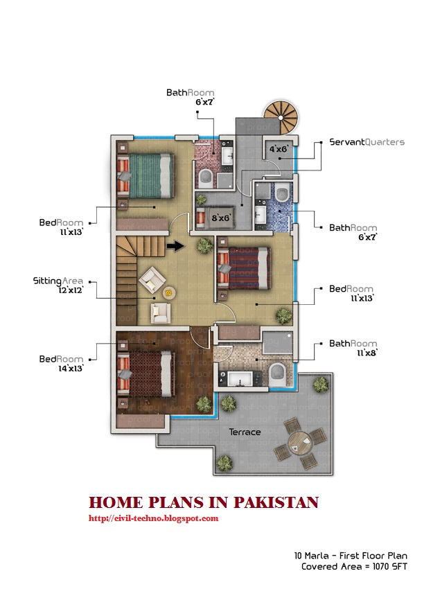 Home Design In Pakistan ramu_gaikwad01_large pakistan house front elevation 12 10 Marla Home Plan