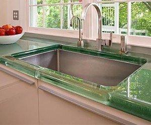 Marta decoycina decorar la cocina en verde - Vidrio templado cocina ...