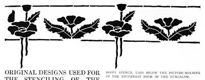 Laurelhurst Craftsman Bungalow: Craftsman Mag Stencil Designs