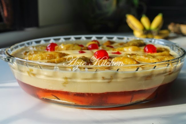 Puding Trifle Pisang Lemak Manis