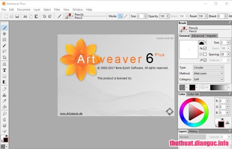 Download Artweaver Plus 6.0.9.14775 Full Cr@ck – Phần mềm tạo và chỉnh sửa ảnh nhỏ gọn