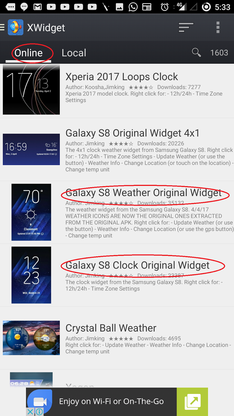 How to get samsung galaxy S8 home screen looks in any