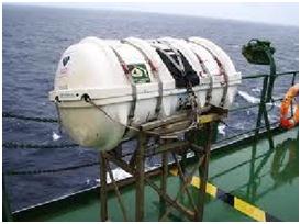 Peralatan Keselamatan di Kapal, rakit penolong kembung