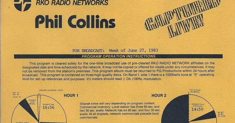 T U B E Phil Collins 1983 02 20 Washington Dc Pre