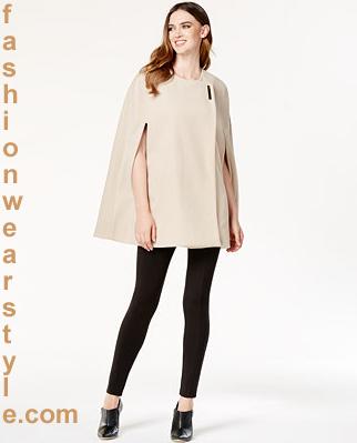 Macys Capes Fashion for Women | Poncho Collar Macys Brand www.fashionwearstyle.com