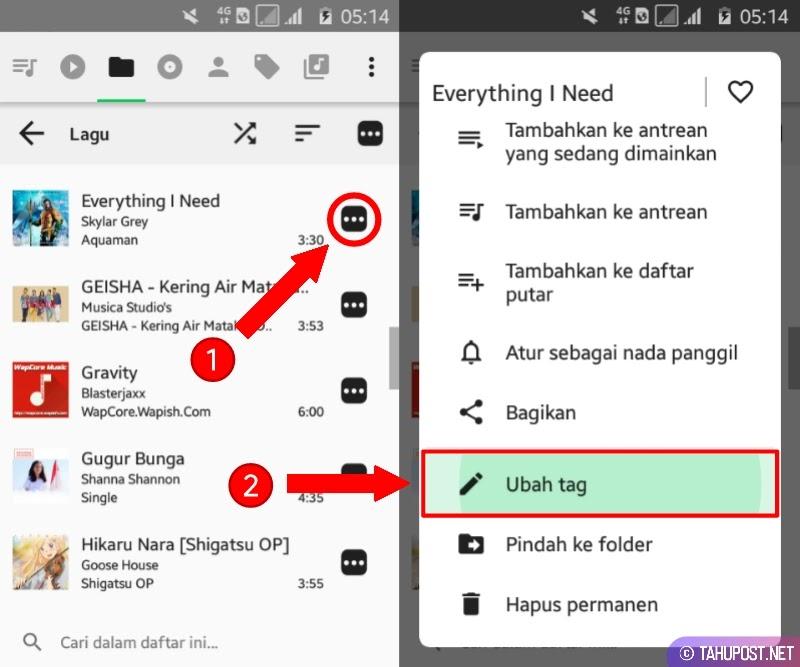 Pilih Lagu - Cara Membuat Lirik Lagu di Pemutar Musik Android