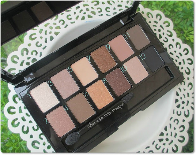 Paleta The Nudes de Maybelline