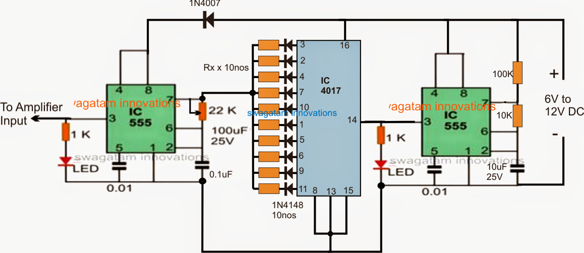 Ultrasonic Solar Insect Repellent Circuit For Protecting