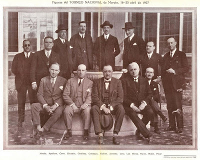 Participantes en el Torneo de Ajedrez de Murcia 1927