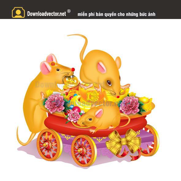 Chuột Đẩy Xe vàng