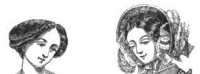 Double and waved bandeau (hair) in Harper's New Monthly Magazine, January 1853