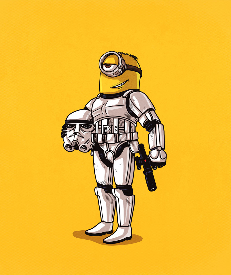 14-Stormtrooper-and-the-Minions-Alex-Solis-Illustrations-of-Icons-Unmasked-www-designstack-co