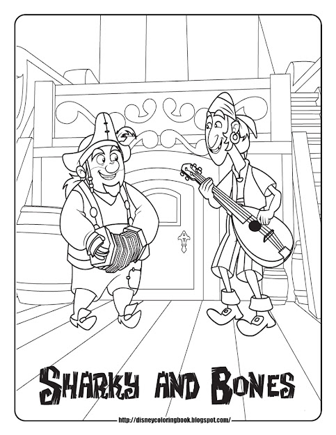 Jake And The Never Land Pirates Coloring Pages Sharky And Bones