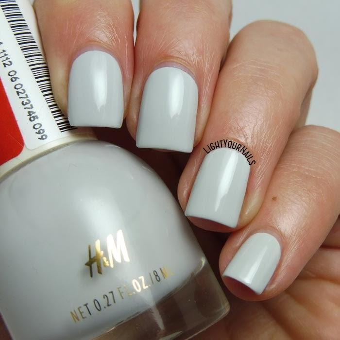 Smalto grigio H&M Paper Ash grey nail polish