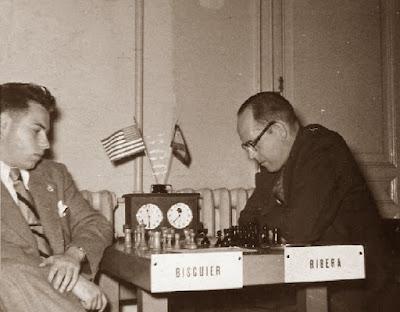 Partida de ajedrez Bisguier-Ribera en 1953