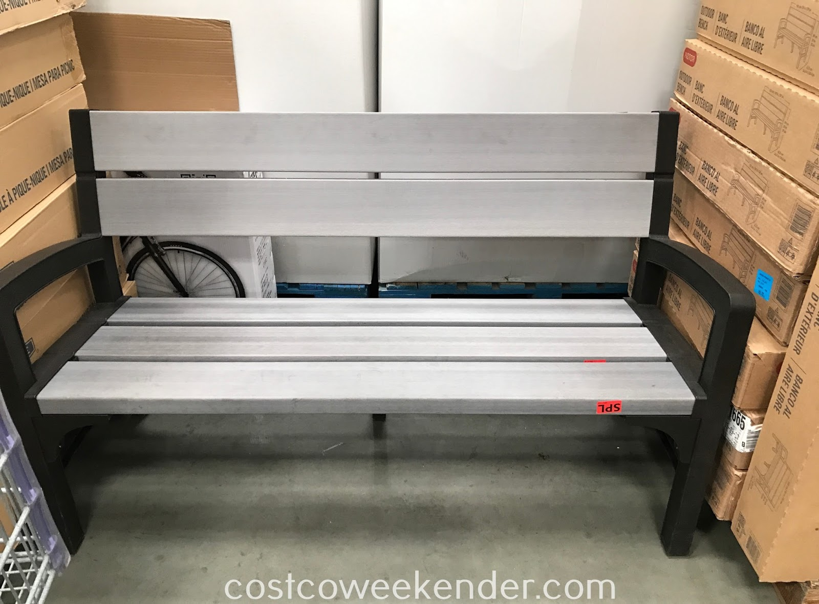 Get more outdoor seating with the Keter Outdoor Bench