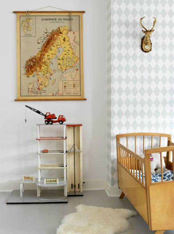 de oude speelkamer: vintage babykamer, Deco ideeën
