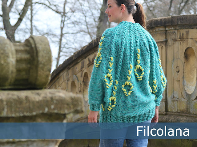 Free knitting patterne for a cabled poncho - Charlotte Kaae for Filcolana. www.bykaae.dk