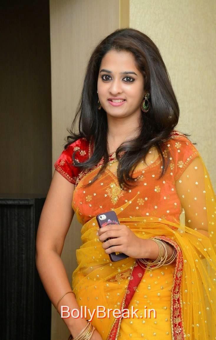 Tollywood Actress Nanditha, Actress Nanditha Yellow Saree Navel pics in HD from Ram Leela Movie