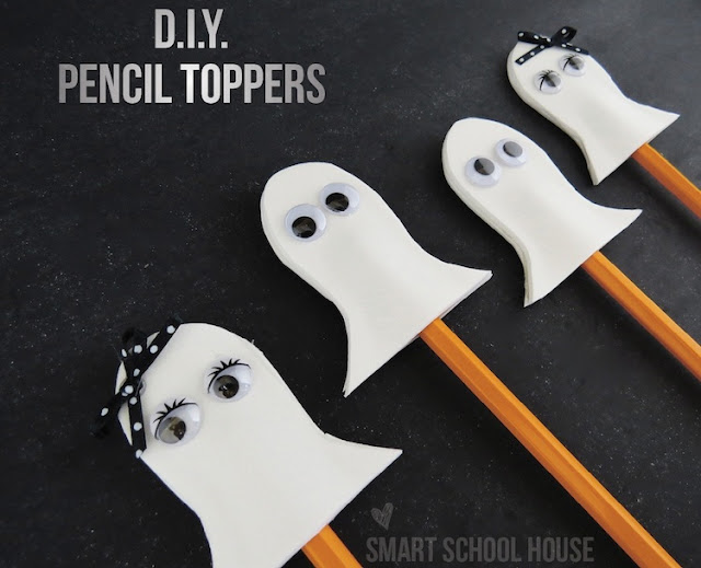 Ghost Pencil Toppers2 12 Spooktacular Halloween Kid Crafts 28