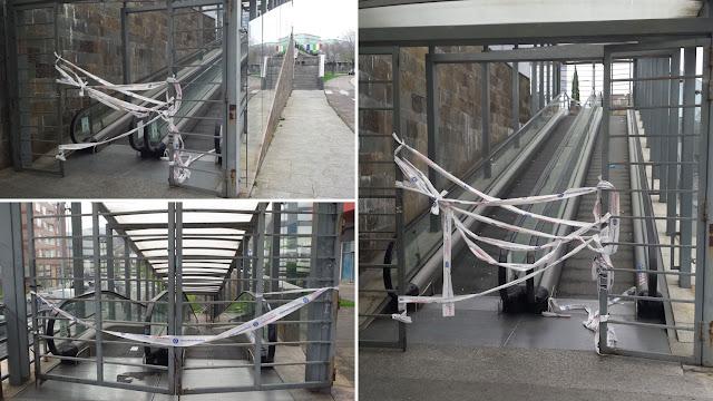 Escaleras mecánicas de acceso a Megapark