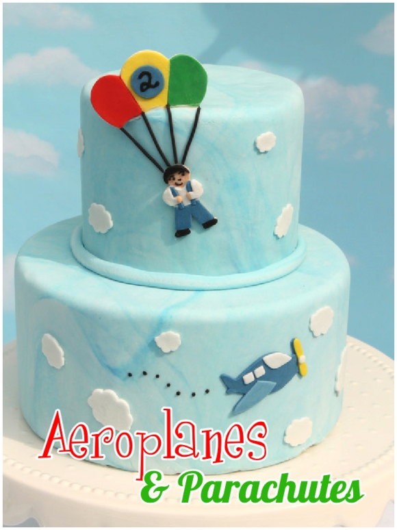 Airplanes and Parachutes Birthday Party - via BirdsParty.com