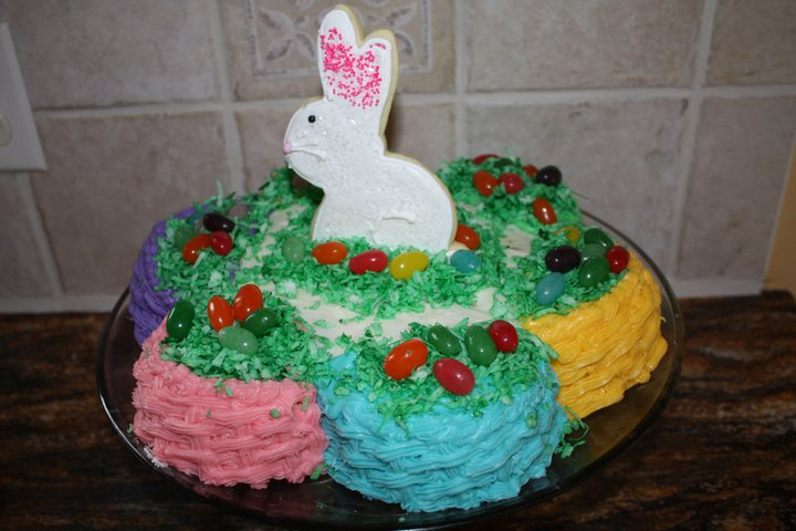 Two Sweet Bakery Easter Bunny Basketweave Cake
