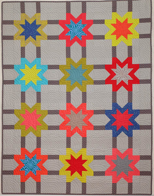 Virginia Star Quilt Free Pattern designed by Michelle Marvig for Leutenegger