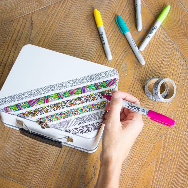 supply of the month challenge color your own pencil box design