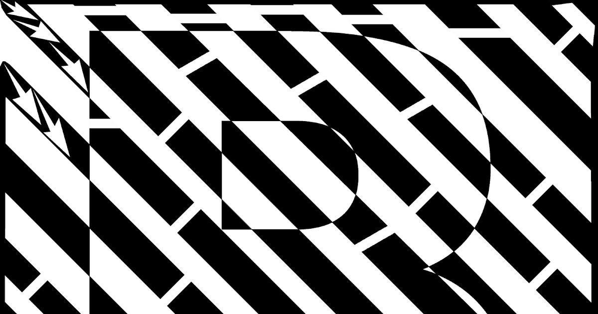 maze illusion letter optical mazes