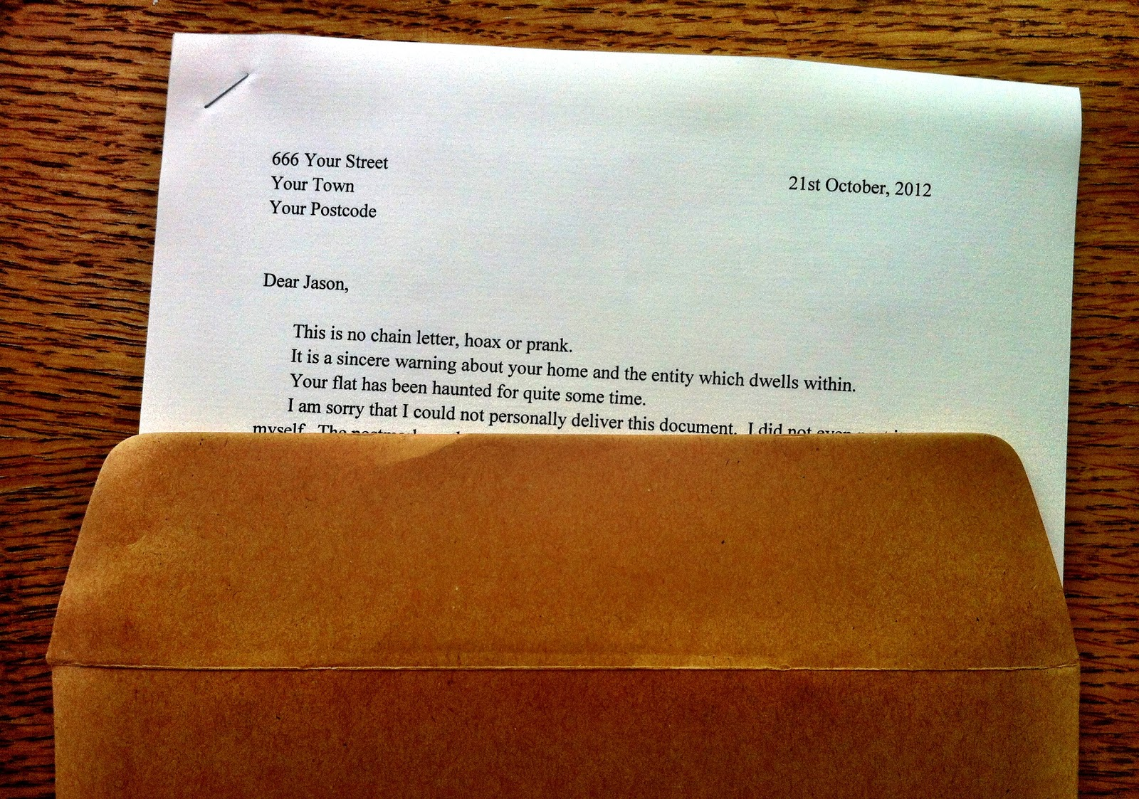scary letter paper editions