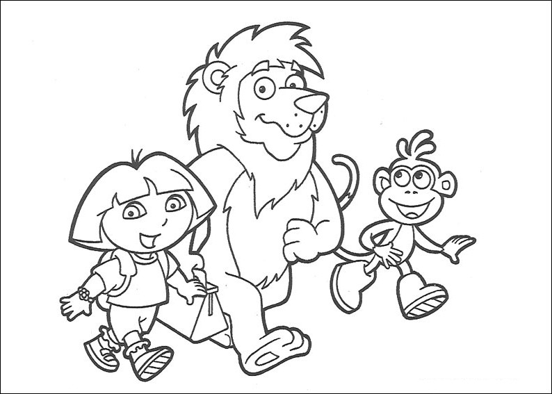 Coloriages Enfants Coloriage Dora L Exploratrice