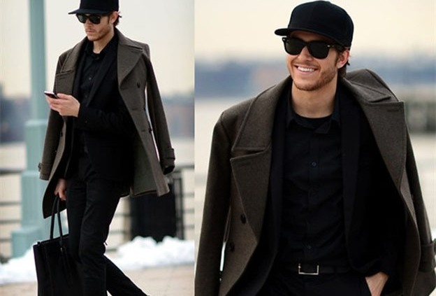 Bí quyết phối đồ với áo khoác măng tô nam