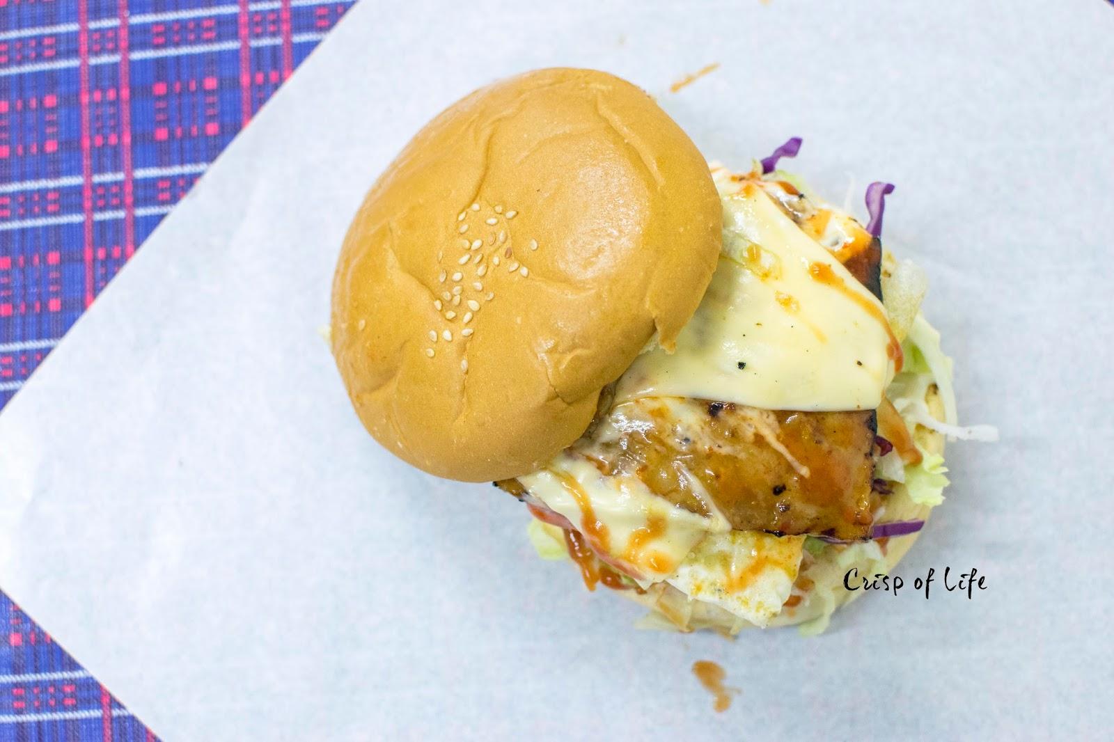 Dendeng and Soft Shell Crab Burger @ D'Marta Cafe. Sunway Tunas, Penang