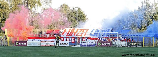 Kibice podczas meczu z Arką Gdynia