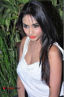 Actress Model Pooja Sri Stills in White Short Dress at F Club pre soft Launch  0068.JPG