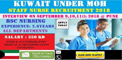 STAFF NURSE VACANCY IN KUWAIT UNDER MOH