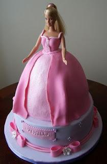 gambar kue ulang tahun bentuk barbie