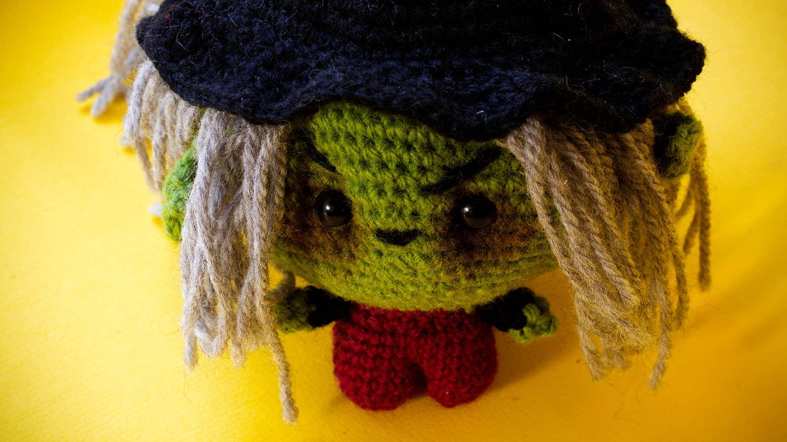 Amigurumi crochet witch pattern is a one days project.