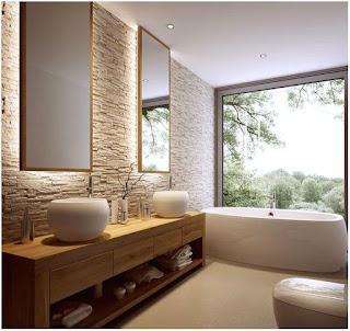 moderne badezimmer mit dusche und badewanne