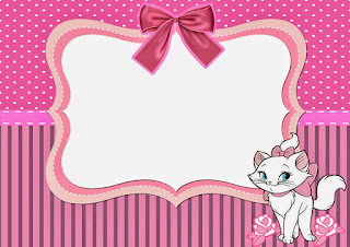 Free Printable Marie Party Kit in Pink and Fuchsia.