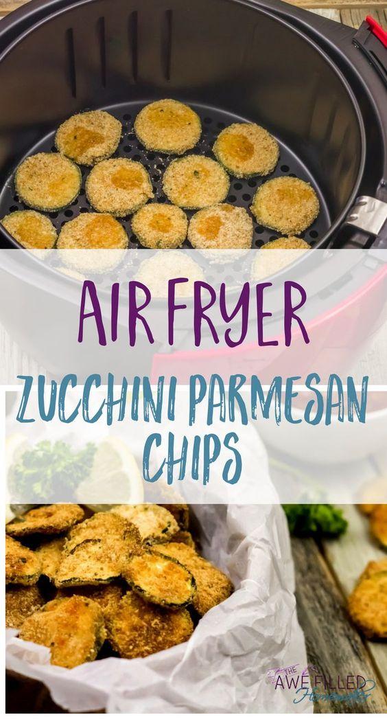AIR FRYER ZUCCHINI PARMESAN CHIPS!