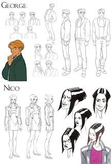Personajes George y Nicole - Broken Sword