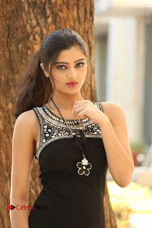 Actress Poojitha Pallavi Naidu Stills in Black Short Dress at Inkenti Nuvve Cheppu Movie Platinum Disc Function  0107.JPG