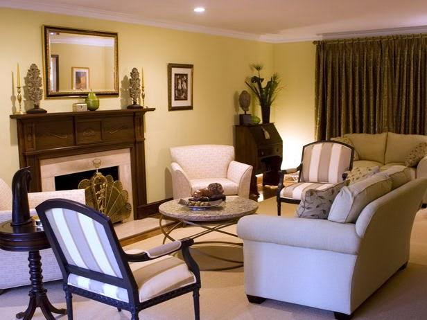 decoración sala beige marrón