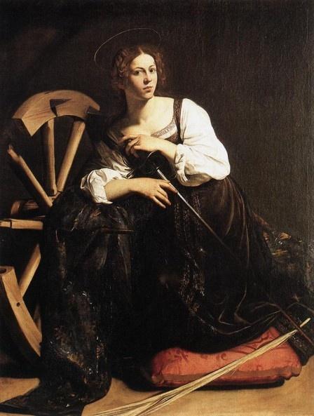 Saint Catherine Caravaggio 1561-1610