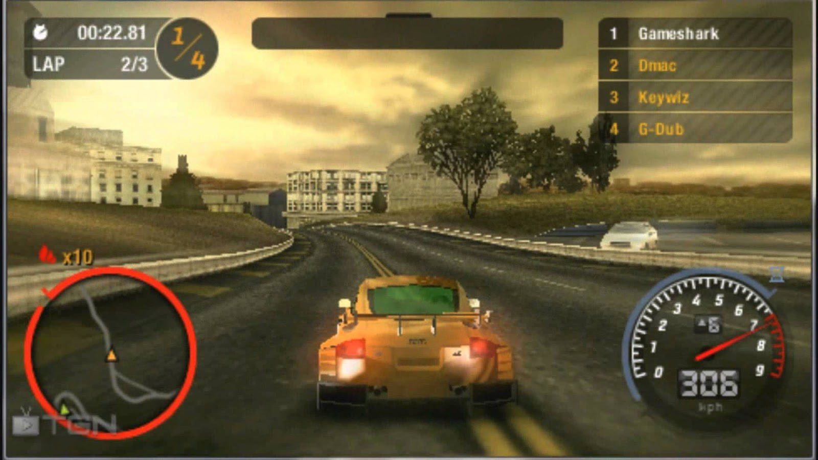 Need for Speed Most Wanted (USA) PSP ISO High Compressed - Gaming Gates