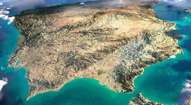 peninsula iberica nasa, iberian peninsula, spain from space